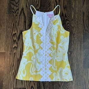 NWOT Lilly Pulitzer Structured Too Yellow Size 0